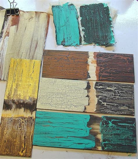how to make acrylic paint crackle on canvas how to make a furniture in rustic style with crackles my