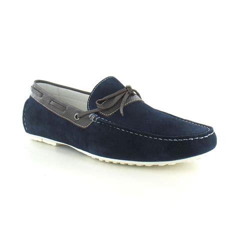 navy loafer paolo vandini taxbury mens suede loafer navy brown