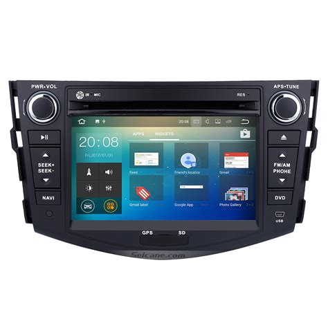 android dvd player android 7 1 car radio gps navigation dvd player bluetooth stereo for 2006 2012 toyota rav4 with