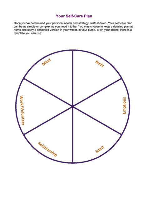 self care plan template your self care plan template printable pdf
