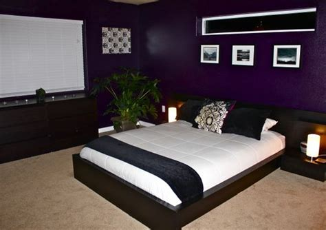 purple and black rooms dark purple purple bedrooms and room paint on pinterest