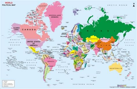 best photos of world map continents with countries world