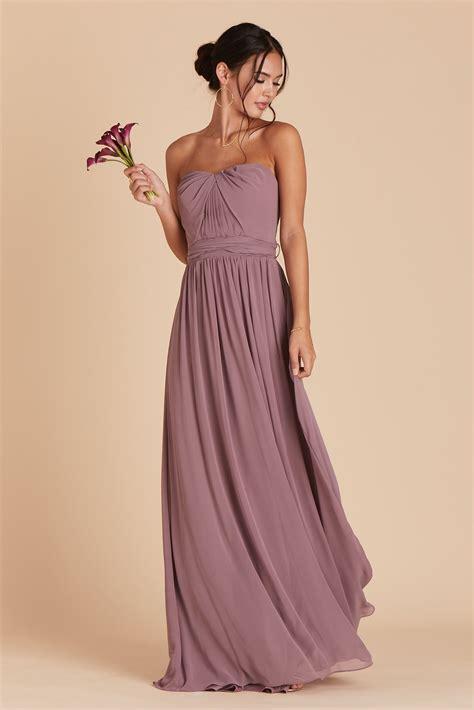grace convertible chiffon bridesmaid dress in dark mauve