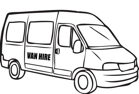 printable images of van van printable coloring pages