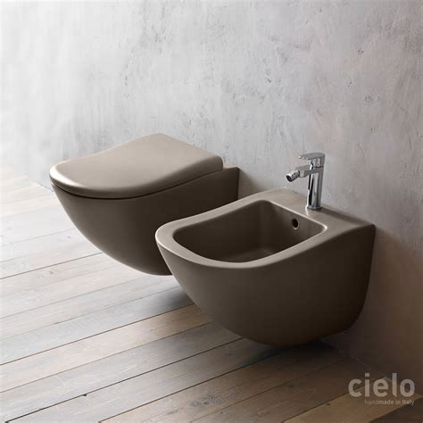colored toilets colored designer wall hung wc bidet for bathroom ceramica cielo