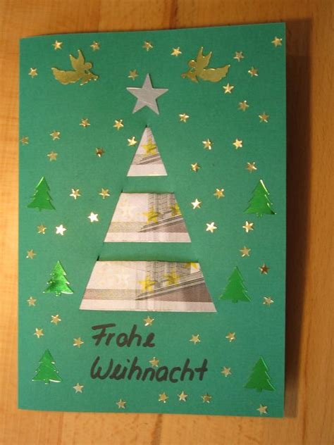 tannenbaumkarte geldgeschenke weihnachten