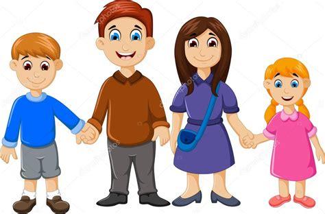 imagenes de la familia animadas dibujos animados familia feliz para usted dise 241 o vector