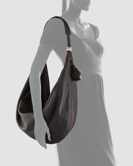 Ransel Free Slingbag Tassel the row sling 15 horsehair tassel hobo bag black