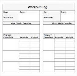 Excel Workout Template by Sle Workout Log Template 8 In Word Pdf Psd