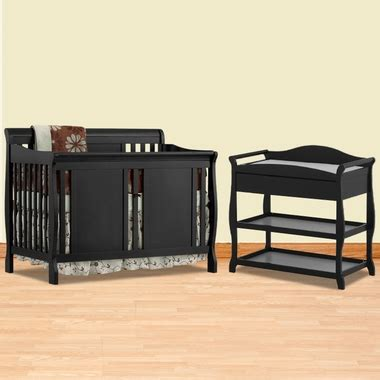 Black Convertible Crib With Changing Table by Storkcraft Black Verona Convertible Crib And Aspen Changing Table 2 Nursery Set Free Shipping