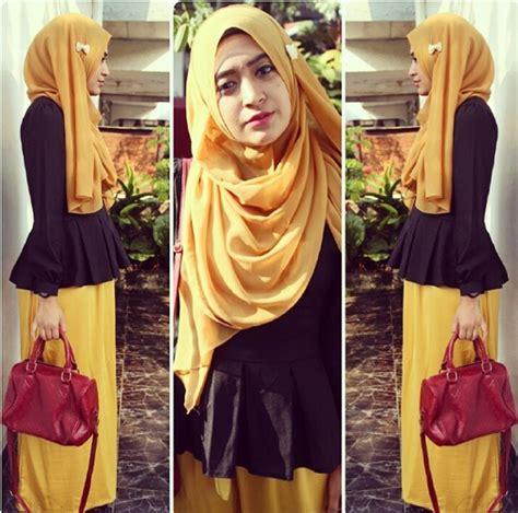 instagram tutorial jilbab til feminin dengan rok skirt ala hijaber natasha farani