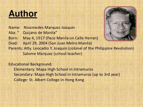 biography of nick joaquin summer solstice report
