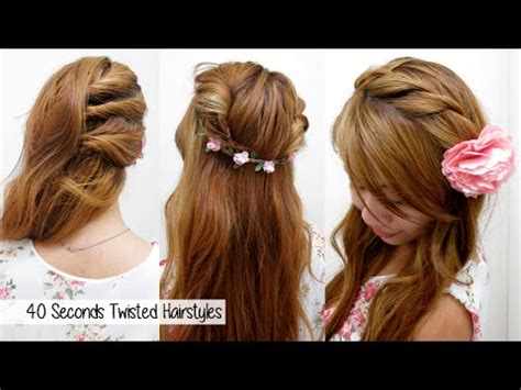 hairstyles through school vine 40 seconds twisted hairstyles timed l quick cute