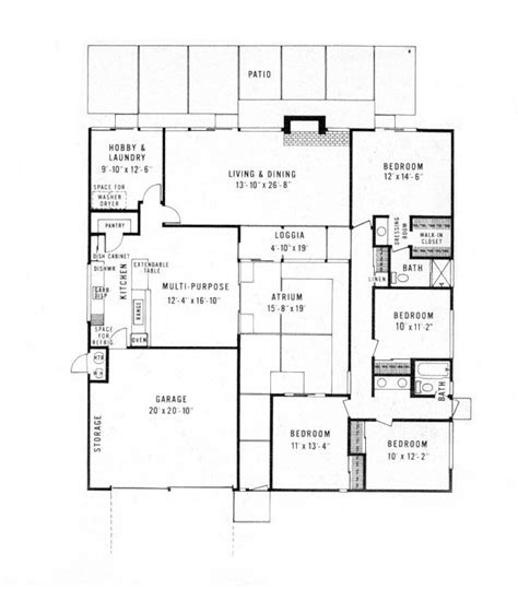 eichler atrium floor plan pinterest