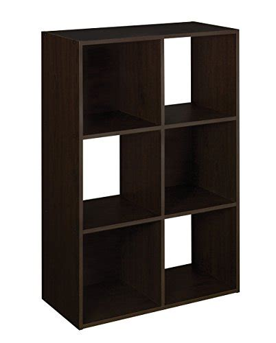 Closetmaid 6 Cube Organizer Espresso closetmaid 78815 cubeicals 6 cube organizer espresso 075381788151 toolfanatic