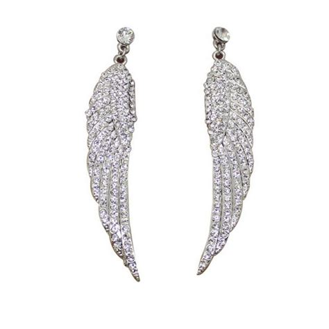 Rhinestone Wing Earrings wing dangle earrings rhinestone fashion