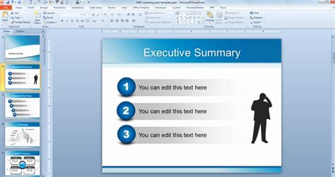 Powerpoint Executive Summary Template Executive Summary Slide Template