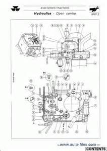 massey ferguson tractors 8100 series repair manuals wiring diagram electronic parts