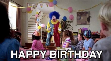 Happy Birthday Meme Gif - happy birthday scary clown