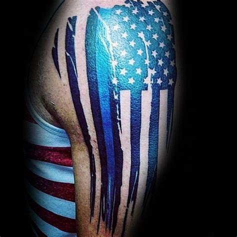 blue line tattoo 50 thin blue line designs for symbolic ink ideas