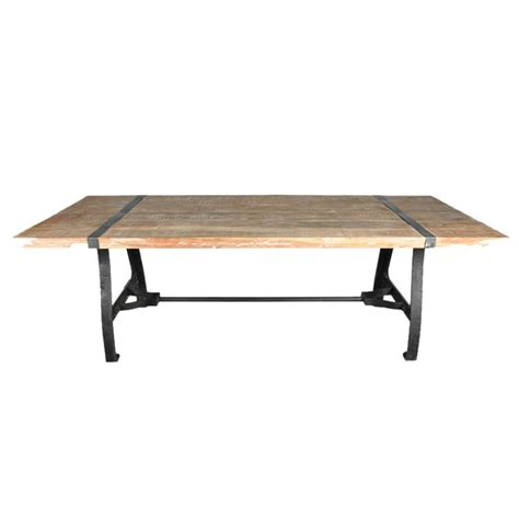 wrought iron wood dining table industrial wood and wrought iron dining table