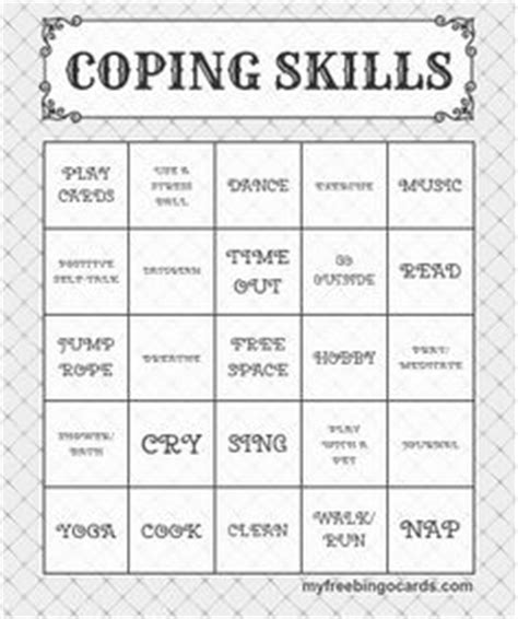coping card template counseling stuff on therapy worksheets