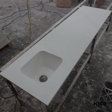 Corian Moulded Sink High Quality White Solid Surface Molded Sink Countertop