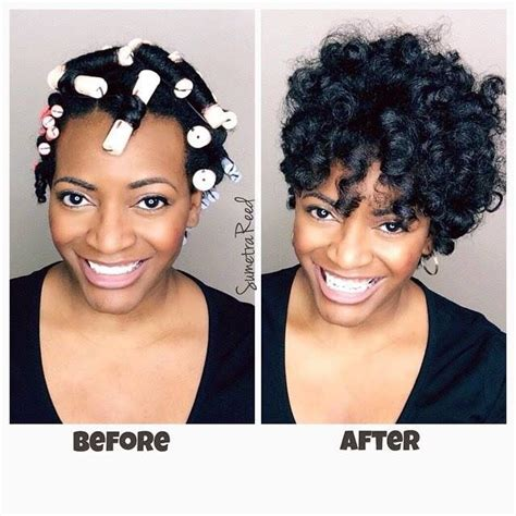 short perm rod styles on thin hair 157 best images about roller set on natural hair on