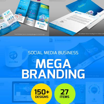 Seo Website Corporate Identity Social Media Branding Templates