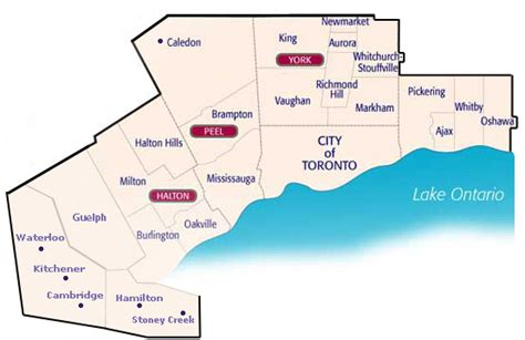 service areas toronto amp the greater toronto area