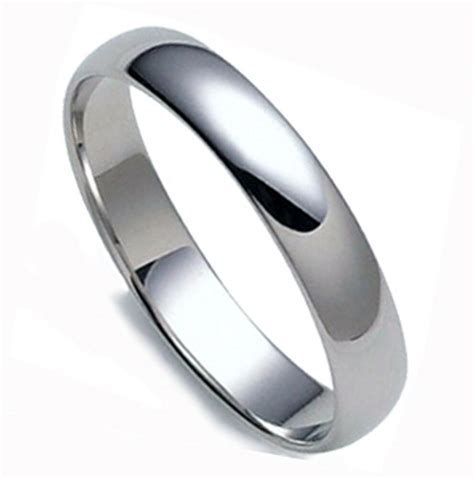 BEST VALUE FOR PRICE DOMED PLATINUM 4MM WIDE LADY COMFORT