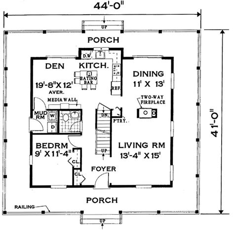 house with wrap around porch floor plan wrap around porch home 7005 4 bedrooms and 2 baths the house designers