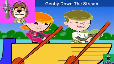 row your boat lyrics kid song row row row your boat by kids animated nursery rhymes