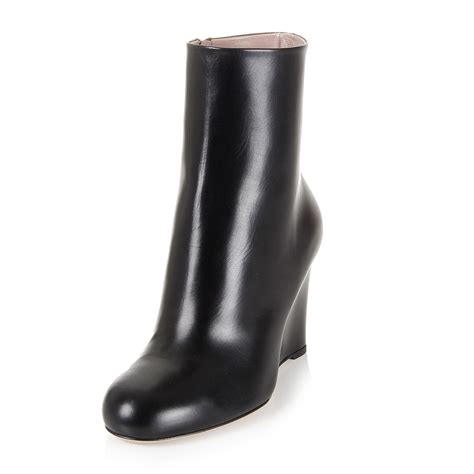stivaletto zeppa interna gucci donna stivaletto con zeppa nero spence outlet