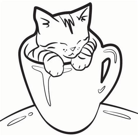 cat and kitten coloring pages realistic cat coloring