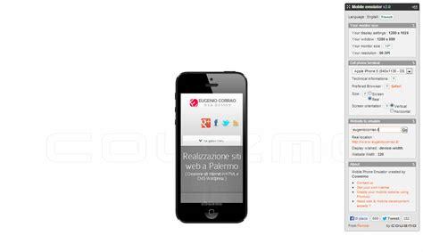 mobile phone emulator testare un sito sui dispositivi mobili eugenio