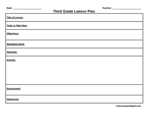 homeschool lesson plan exles third grade lesson plan template to homeschool or not to