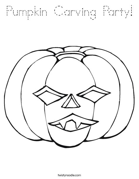 Block O Coloring Page by Pumpkin Carving Coloring Page Tracing Twisty Noodle