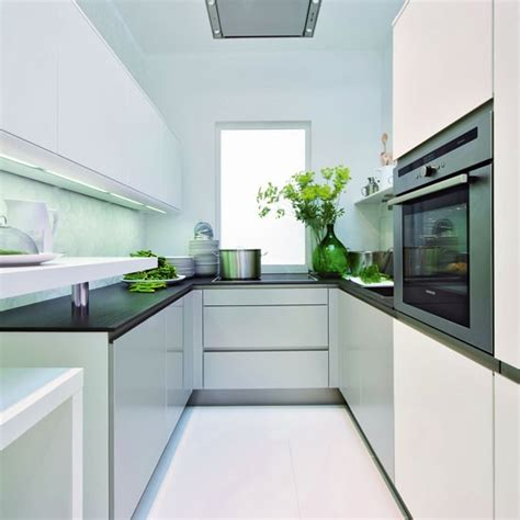 Small Contemporary Kitchen Designs Small Kitchen With Reflective Surfaces Small Kitchen Design Ideas Housetohome Co Uk