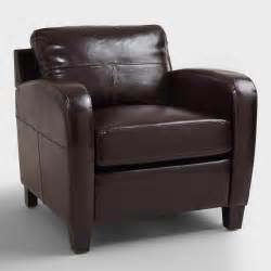 espresso mason bi cast leather chair world market