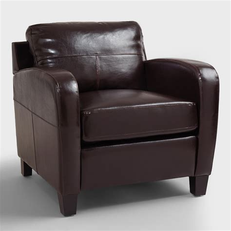 Leather Chair Espresso Bi Cast Leather Chair World Market