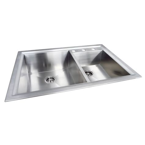 stainless steel sink undercoating dual mount stainless steel 33 in 4 hole single bowl