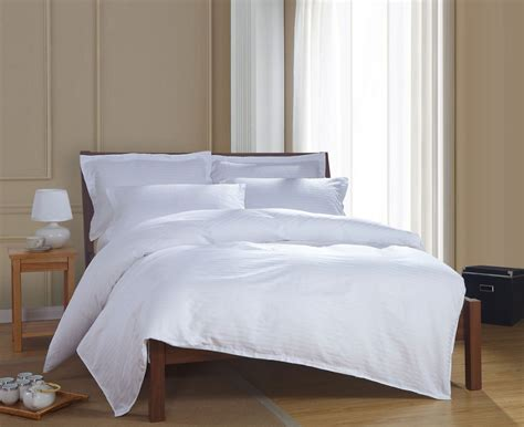 Hotel Bed Sets 100 Cotton Luxury Satin White Hotel Bedding Sets Bed Linen Duvet Cover
