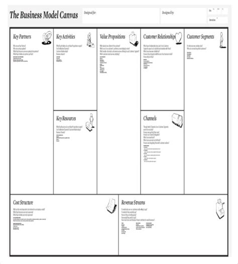 Business Model Canvas Template 20 Free Word Excel Pdf Business Canvas Template Word