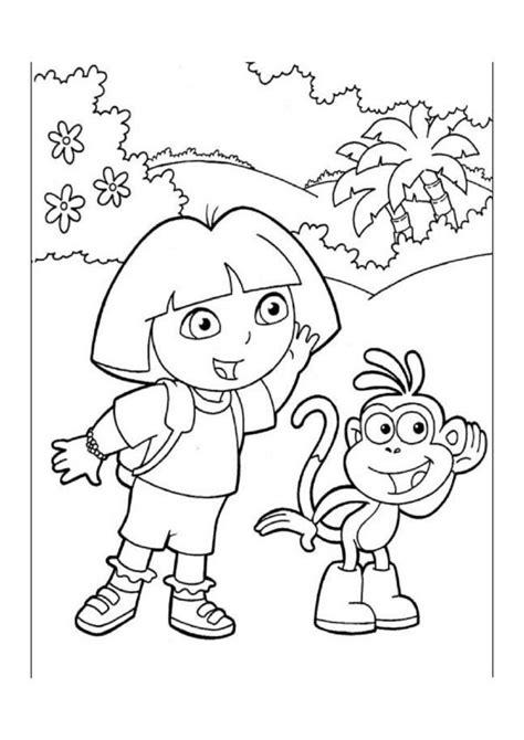 Dora Explorer Tegninger til Farvelægning. Printbare
