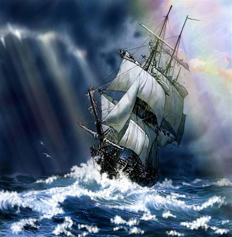 sailing boat in a storm ship in storm ships sailing and the occasional pirate