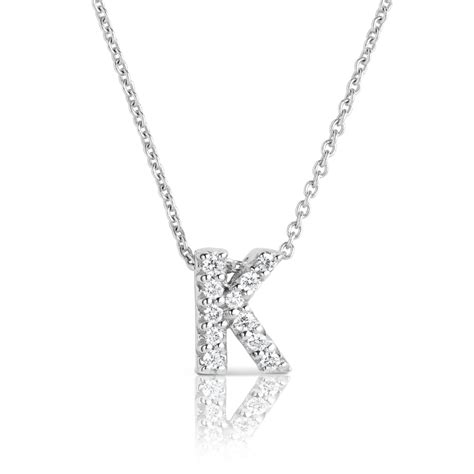K Necklace white gold initial k quot tiny treasures quot necklace