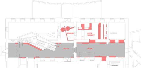 museum foyer grundriss umbau eingang j 252 disches museum berlin bromsky architekten