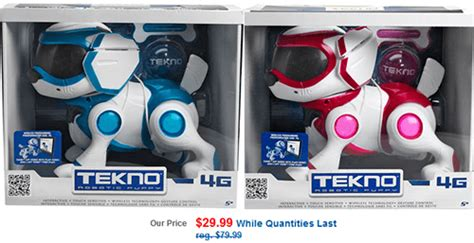 tekno puppy drugs tekno robotic puppy only 29 99 reg 74 95 canadian freebies