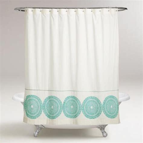 medallion shower curtain porcelain blue lydia medallion shower curtain world market